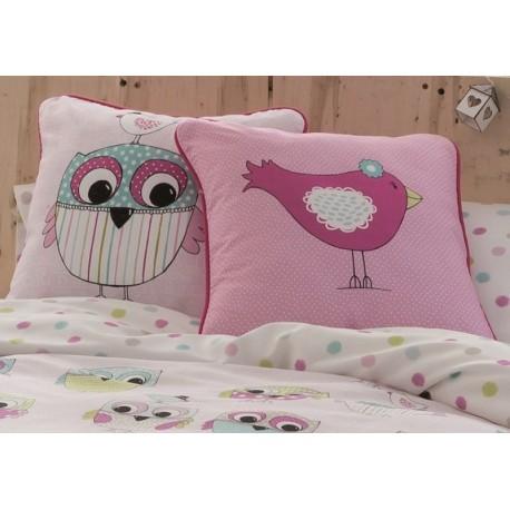 Cojín Ula Colección infantil Owl Family