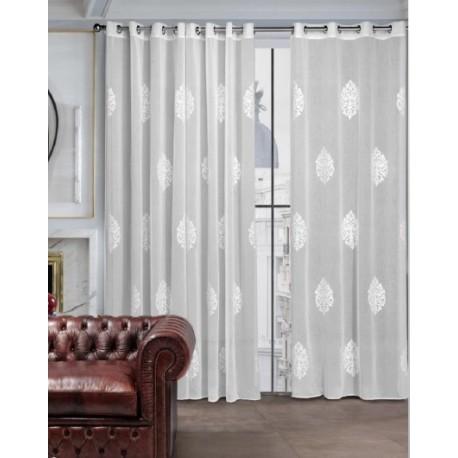 Cortinas confeccionadas cortinas de dise o lencant - Cortinas gris plata ...