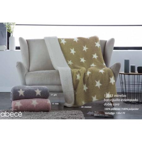 Manta de sofá estrellas