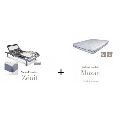 Pack colchón Mozart + Somier eléctrico Zenit
