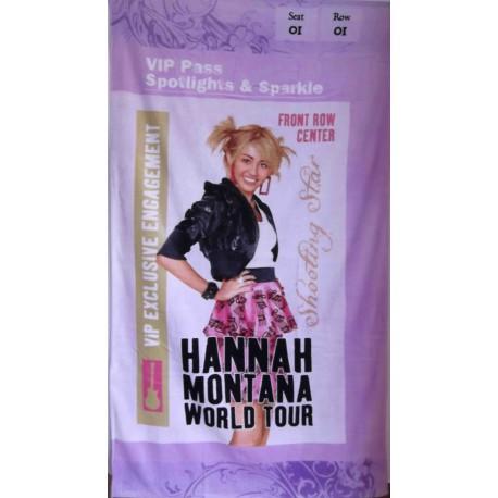 Toalla tour Hannah Montana