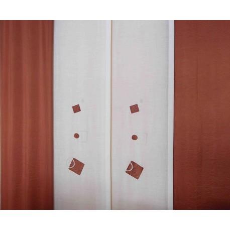 Panel japonés confeccionado Teja
