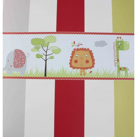 Cenefa Papel Jungle Friends